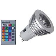 halpa LED-kohdevalaisimet-KWB 4W 400 lm E14 GU10 GU5,3(MR16) GU5.3 LED-kohdevalaisimet MR16 1 ledit COB Himmennettävissä Kauko-ohjattava Koristeltu RGB AC 85-265V