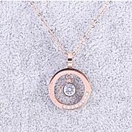 levne -Dámské Náhrdelníky s přívěšky Titanová ocel Šperky Pro Svatební Párty Denní Ležérní 1ks