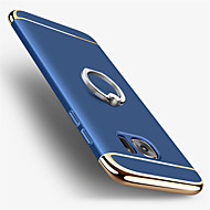 お買い得  Samsung 用 ケース/カバー-ケース 用途 Samsung Galaxy S7 edge S7 メッキ仕上げ バンカーリング バックカバー 純色 ハード PC のために S7 edge S7