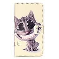 Для Кошелек Бумажник для карт со стендом Флип С узором Магнитный Кейс для Чехол Кейс для Кот Твердый Искусственная кожа для HuaweiHuawei