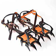 abordables Accesorios para Deportes de Invierno-Crampones Senderismo Camping Al Aire Libre A prueba de resbalones Nailon Metal 2 PC