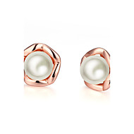 Women's Stud Earrings With Gift Box Imitation Pearl Lovely Fashion Alloy Circle Jewelry Wedding Daily