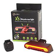 Pyöräilyvalot LED Laser LED Pyöräily Kauko-ohjain Vedenkestävä Erityiskevyet Litium-paristo 80 Lumenia Patteri Pyöräily Ulkoilu