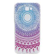 olcso Galaxy J tokok-Case Kompatibilitás Samsung Galaxy J7 Prime Dombornyomott Minta Hátlap csipke nyomtatás Puha TPU mert J7 Prime J2 Prime
