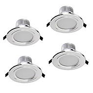 abordables Luces Descendentes-ZDM® 4pcs 5 W 400-450 lm 5 Cuentas LED Regulable Luces LED Descendentes Blanco Cálido Blanco Fresco Blanco Natural 220 V 110 V 12 V Hogar / Oficina Sala de Estar / Comedor Dormitorio / 4 piezas
