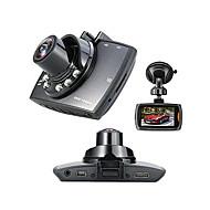 Недорогие Видеорегистраторы для авто-Full HD 1920 x 1080 Обнаружение движения / G-Sensor / 720P Автомобильный видеорегистратор 120° Широкий угол 1/4 дюйма, цветная КМОП 2.7 дюймовый Капюшон с 6 инфракрасных LED Автомобильный рекордер
