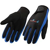 お買い得  -Bluedive ダイビンググローブ 1.5mm ネオプレン / ナイロン フルフィンガー 保温, 速乾性, 人間工学デザイン サーフィン / 潜水 / ボート遊び