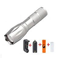 U'King LED Lommelygter Lommelyktsett LED 2000 lm 5 Modus Cree XM-L T6 Justerbart Fokus Kompaktstørrelse Zoombare Mulighet for demping til