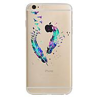Недорогие Кейсы для iPhone 8-Кейс для Назначение Apple iPhone X iPhone 8 iPhone 6 iPhone 7 Plus iPhone 7 Ультратонкий С узором Кейс на заднюю панель  Перья Мягкий ТПУ