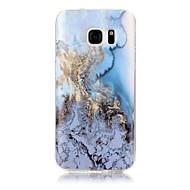 voordelige Galaxy S5 Hoesjes / covers-hoesje Voor Samsung Galaxy S7 edge S7 IMD Patroon Achterkantje Marmer Zacht TPU voor S7 edge S7 S6 edge S6 S5 S4 S3