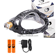 cheap Flashlights, Lanterns & Lights-U'King Headlamps Headlight LED 1200 lm 4 Mode Cree XP-E R2 with Batteries and Charger Zoomable Adjustable Focus Compact Size Counterfeit