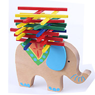 olcso Játékok & hobbi-Építőkockák Játékok Stacking Tower Játékok Újdonságok Egyensúly Elefánt Állat Fa Klasszikus Rajzfilmfigura 1 Darabok Fiú Lány Ajándék