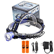 preiswerte Taschenlampen, Laternen & Lichter-2000 lm lm Stirnlampen LED 3 Modus - U'King Zoomable- / Alarm / einstellbarer Fokus