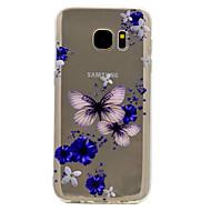 Недорогие Чехлы и кейсы для Galaxy S7-Кейс для Назначение SSamsung Galaxy S8 Plus S8 Прозрачный С узором Задняя крышка Бабочка Мягкий TPU для S8 S8 Plus S7 edge S7 S6