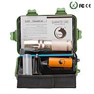 preiswerte Taschenlampen, Laternen & Lichter-U'King LED Taschenlampen LED Cree XM-L T6 2000 lm 5 Beleuchtungsmodus inklusive Batterie und Ladegerät Zoomable-, einstellbarer Fokus Camping / Wandern / Erkundungen, Für den täglichen Einsatz