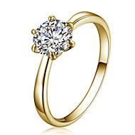 指輪 クリスタル クリスタル ジルコン キュービックジルコニア 模造ダイヤモンド 合金 スター シンプルなスタイル ファッション ゴールド ジュエリー パーティー 日常 1個