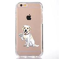 Недорогие Кейсы для iPhone 8 Plus-Назначение iPhone X iPhone 8 Чехлы панели Прозрачный С узором Задняя крышка Кейс для С собакой Мягкий Термопластик для Apple iPhone X