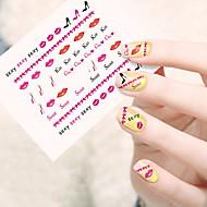 abordables Adhesivos para Uñas-1pcs Calcomanías de Uñas 3D Etiqueta engomada de la transferencia arte de uñas Manicura pedicura Encantador Dibujos / Pegatinas de uñas 3D