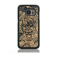 billige Etuier til Samsung-Etui Til Samsung Galaxy S7 edge S7 Mønster Bagcover Tegneserie Hårdt Bambus for S7 edge S7 S6 edge S6