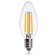 1pcs 4W E14 Edison LED Filament Bulbs C35 COB 360lm Warm/Cool White Color AC220-240V