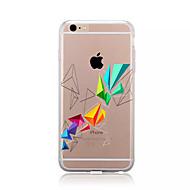 Недорогие Кейсы для iPhone 8 Plus-Кейс для Назначение Apple iPhone X iPhone 8 iPhone 8 Plus С узором Кейс на заднюю панель Геометрический рисунок Мягкий ТПУ для iPhone X