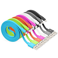 Lightning USB 3.0 Ledning Ladingskabel Fletted ladingskabel Data og synkronisering Flat Kabel Til Apple iPhone iPad 100