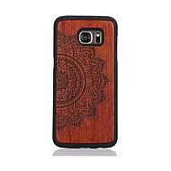 お買い得  携帯電話ケース-ケース 用途 Samsung Galaxy S7 edge S7 パターン バックカバー 曼荼羅 ハード 木製 のために S7 edge S7