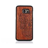 Для С узором Кейс для Задняя крышка Кейс для Череп Твердый Дерево для Samsung S7 edge S7