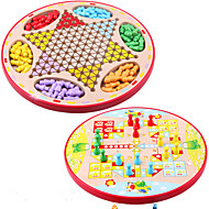 cheap Toys & Hobbies-Board Game Chess Game Paternity Games Halma Educational Toy Toys Circular Wood Pieces Children's Unisex Gift
