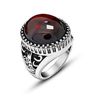สำหรับผู้ชาย แหวน Titanium Steel Euramerican Military แหวนแฟชั่น เครื่องประดับ สีดำ / แดง สำหรับ ทุกวัน 7 / 8 / 9 / 10 / 11