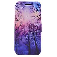 Недорогие Чехлы и кейсы для Galaxy A5(2017)-Кейс для Назначение SSamsung Galaxy A5(2017) A3(2017) Бумажник для карт со стендом Флип Магнитный С узором Чехол дерево Твердый Кожа PU
