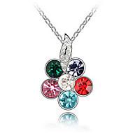 Жен. Ожерелья с подвесками Кристалл В форме цветка Уникальный дизайн Цветочный дизайн Цветы Цветочный принт Мода Euramerican Бижутерия