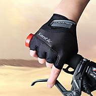 お買い得  -SANTIC スポーツグローブ サイクルグローブ 高通気性 耐摩耗性 アンチスキッド 保護 ウィッキング 耐衝撃性の フィンガーレス エラステイン テリレン サイクリング / バイク 男性用