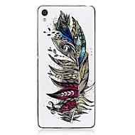 お買い得  携帯電話ケース-ケース 用途 Sony / ソニーのXperia XA 蓄光 / IMD / パターン バックカバー 羽毛 ソフト TPU のために Sony Xperia XA / Sony