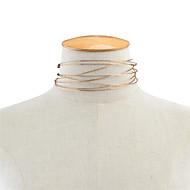 女性用 チョーカー ジュエリー シングルストランド 銅 あり 欧米の ファッション ゴールド ジュエリー のために 日常 カジュアル 1個