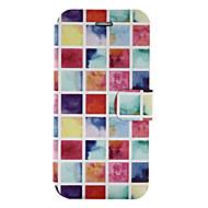 Для Бумажник для карт со стендом Флип С узором Кейс для Чехол Кейс для Геометрический рисунок Твердый Искусственная кожа для SamsungA3