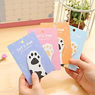 1 PCS Cat's Paw Cute Self-Stick Notes