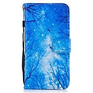 Для Кошелек Бумажник для карт со стендом Флип С узором Кейс для Чехол Кейс для Пейзаж Твердый Искусственная кожа для HuaweiHuawei P9 Lite