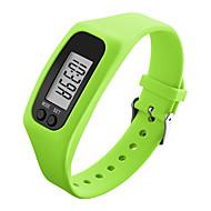 Недорогие Мужские часы-Муж. Наручные часы Спортивные часы Цифровой Педометры Цветной ЖК экран силиконовый Группа Конфеты Черный Белый Синий Зеленый Желтый Роуз
