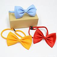 abordables Disfraces de Navidad para mascotas-Gato Perro Navidad Corbata/Pajarita Ropa para Perro Británico Amarillo Rojo Azul Rosa Negro Terileno Disfraz Para mascotas Hombre Mujer