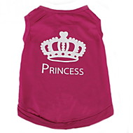 cheap Household & Pets-Cat Dog Shirt / T-Shirt Dog Clothes Casual/Daily Fashion Tiaras & Crowns Rose Costume For Pets