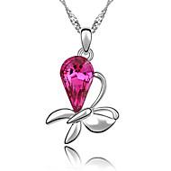 Жен. Ожерелья с подвесками Кристалл В форме цветка Бижутерия Цветочный дизайн Цветы Цветочный принт Бижутерия Назначение