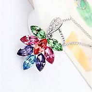 Жен. Ожерелья с подвесками Кристалл В форме цветка Цветочный дизайн Цветы Лепестки Цветочный принт Бижутерия Назначение