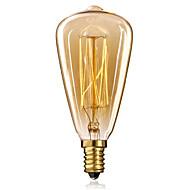 billige Glødelamper-1pc 25W 40W E14 ST48 Varm hvid 2300 K Glødende Vintage Edison lyspære AC 220-240V V