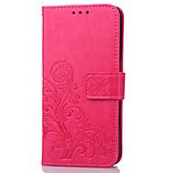 billige Mobilcovers-For Pung Kortholder Med stativ Flip Præget Etui Heldækkende Etui Blomst Hårdt Kunstlæder for Meizu Meizu m3 note