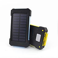 Недорогие Портативные аккумуляторы-Power Bank Внешняя батарея 5V #A Зарядное устройство Водонепроницаемость Подсветка Несколько разъемов Зарядка от солнца LED