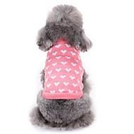billiga Hushåll och husdjur-Katt Hund Tröjor Hundkläder Hjärta Rosa Akrylik Fiber Kostym För husdjur Herr Dam Ledigt/vardag Mode