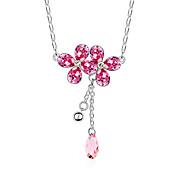 Жен. Ожерелья с подвесками Кристалл В форме цветка Уникальный дизайн Цветочный дизайн Цветы Цветочный принт По заказу покупателя