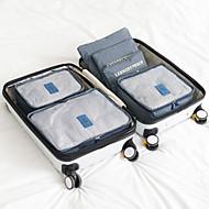 お買い得  トラベル小物-6セット 旅行かばんオーガナイザー 携帯用 / 防水 / 小物収納用バッグ ブラジャー / クロス ナイロン トラベル