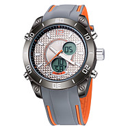 Недорогие Фирменные часы-ASJ Муж. Наручные часы Японский Календарь / Защита от влаги / Cool силиконовый Группа Роскошь / На каждый день / Мода Черный / Оранжевый